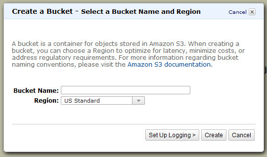 AmazonSQSS3Sample/NewBucket.png