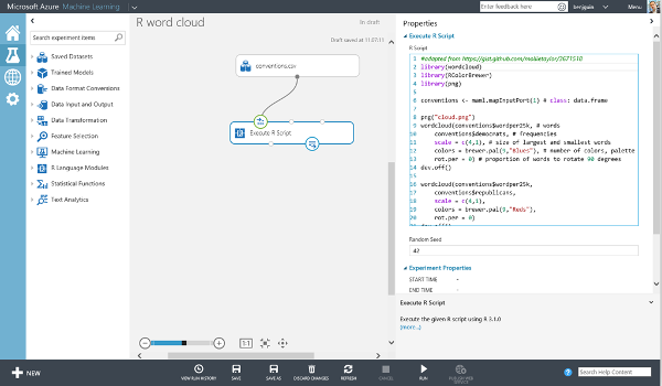 Microsoft Azure Machine Learning Workspace Studio