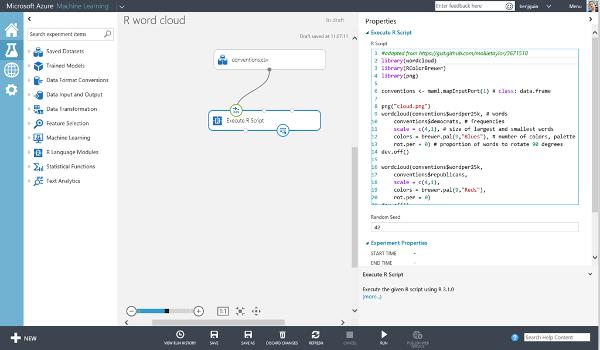 Microsoft Azure Machine Learning Workspace Studio