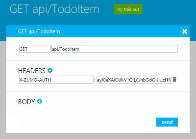 Azure Mobile Service Login HTML User Authentication