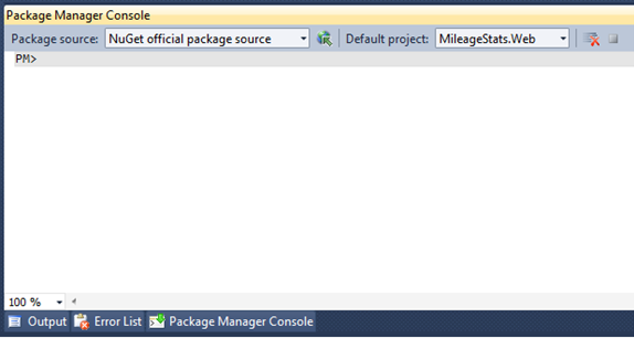 The Package Manager Console