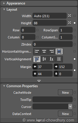 Categorization of Properties in Blend
