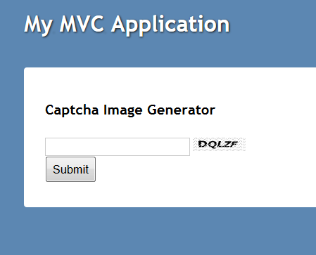 Screenshot of Demo Site - Captcha Image Generator