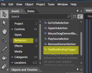 Behavior in Expression Blend