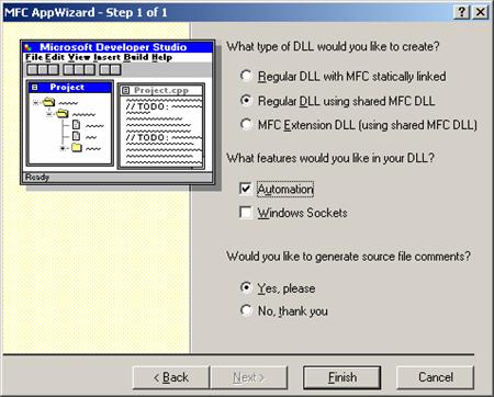 how to create a dll