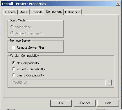 Binary compatibility vb6