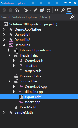 Adding a .def file to the project