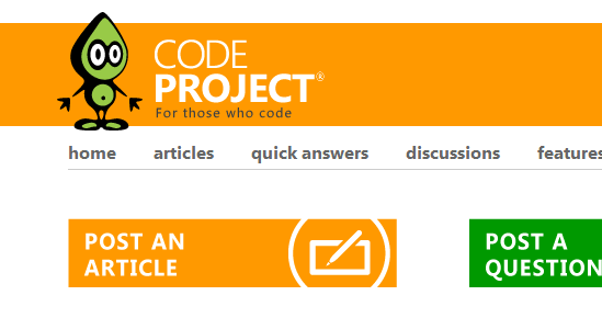 Code Project home page