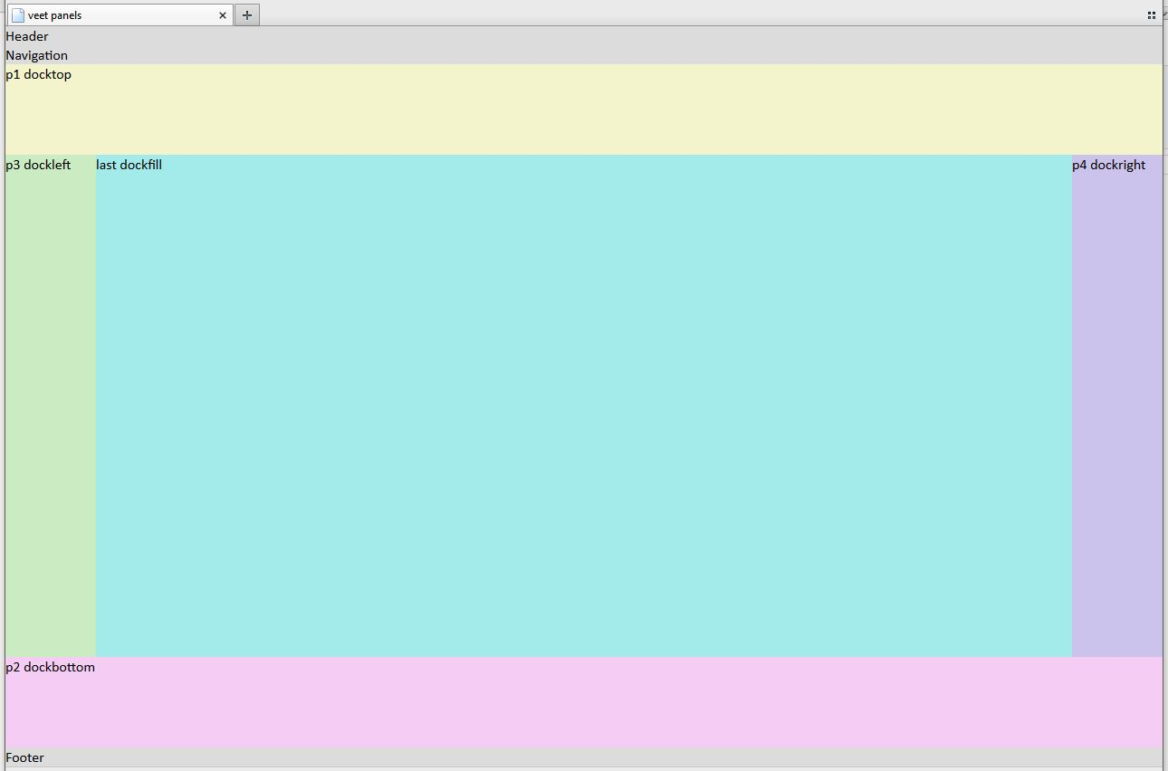 Pure HTML5/CSS3/JS Panel and Splitcontainer in .NET Style; JQuery Not Needed