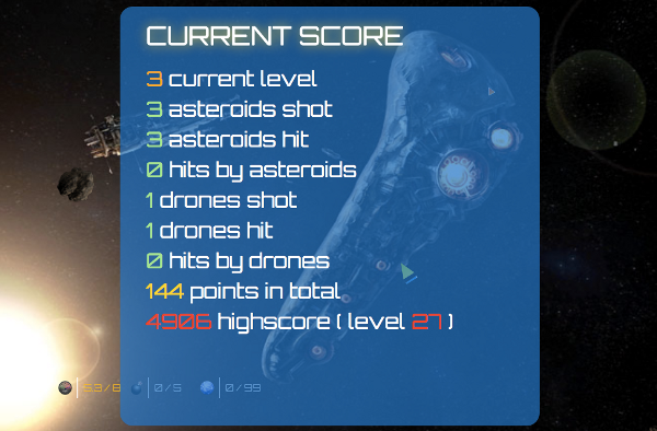 The current score can be viewed within the game at any time