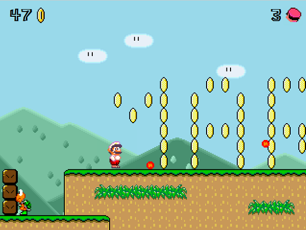 Super Mario for the web browser