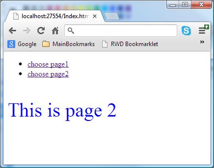 spa single page web application