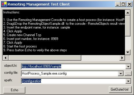 Remoting Management Console