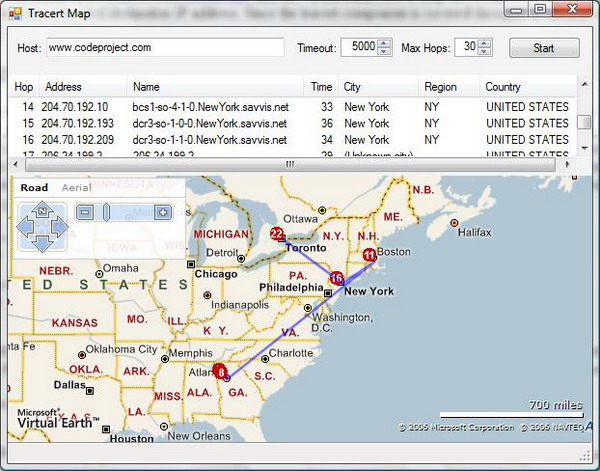 traceroute map  online