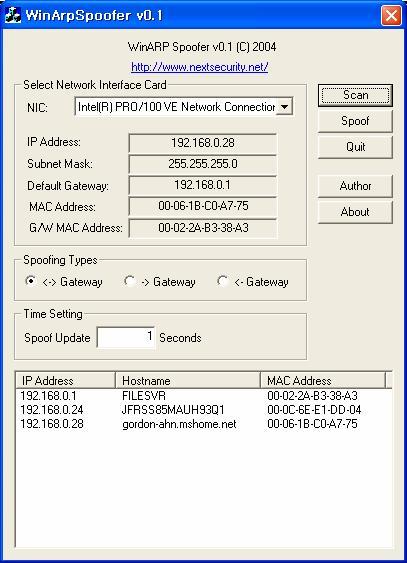 windows arp spoofer 0.5.4