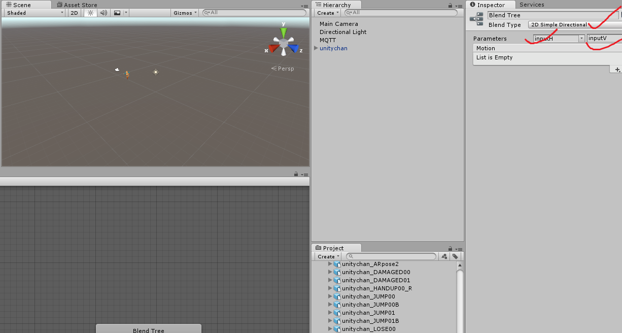 how to make input trigger animation and movement unity