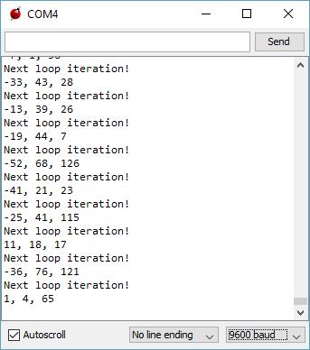 CC3200 Accelerometer Debugger Output