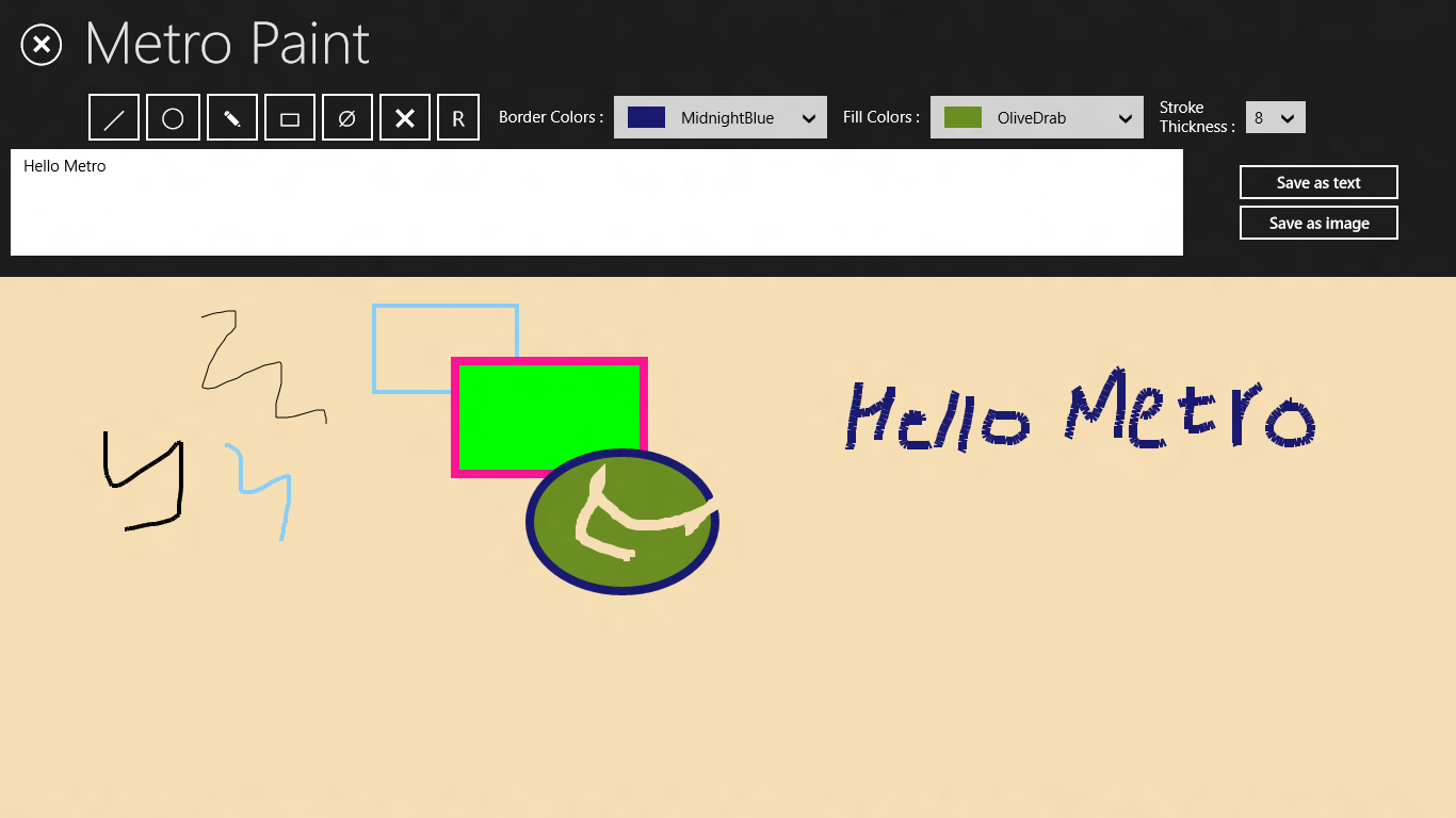 Metro Paint  : A XAML/C# App For Drawing & Hand Writing Recognition