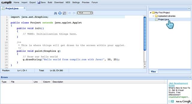 Java Online Compiler