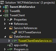 TweetClient Project - TweetClientDataService Class Screen-Shot