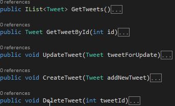 TweetService.cs Class Screen-shot
