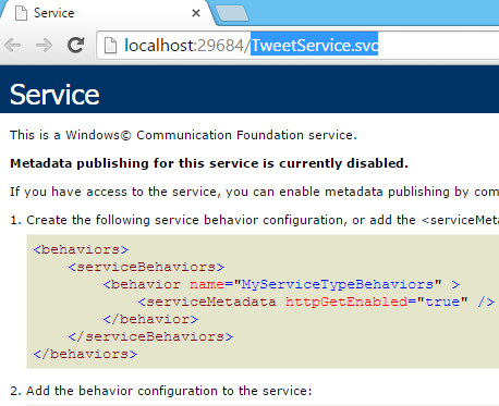 Tweet.WCFService.AJAX TweetService.svc default service-run in browser Screen-shot