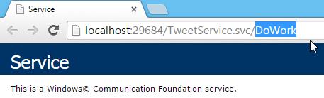 Tweet.WCFService.AJAX TweetService.svc DoWork URI Call Screen-shot