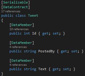 TweetBL Project Tweet.cs Serilaization reference-2 Screen-shot
