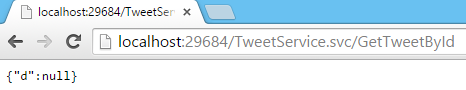 Tweet.WCFService.AJAX Project TweetService.svc GetTweetById Method No Param Screen-shot