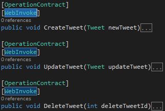 Tweet.WCFService.AJAX Project TweetService.svc WebInvoke Methods Screen-shot