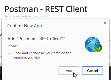 POSTMAN Adding Screen-shot