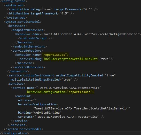 Web.Config Updated Screen-shot