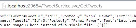 POSTMAN DeleteTweet Operation result Screen-shot