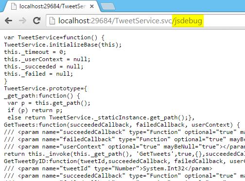 JavaScript Service Debug Proxy Screen-shot