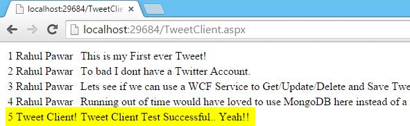 Tweet.WCFService.AJAX Project TweetClient.aspx Final Get Result Screen-shot