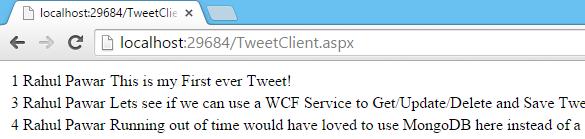 Tweet.WCFService.AJAX Project TweetClient.aspx DeleteTweet Result Get Call Screen-shot