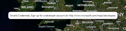 Missing Bing Maps API Key
