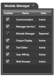 Module Manager Screenshot