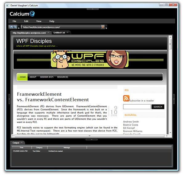 Calcium screenshot