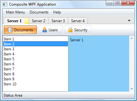 Composite WPF Application