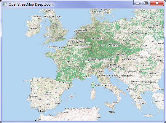 OpenStreetMap Deep Zoom in WPF