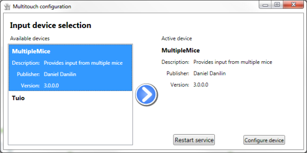 Multi-Touch Vista configuration app