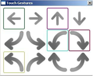 Touch Gestures Screenshot