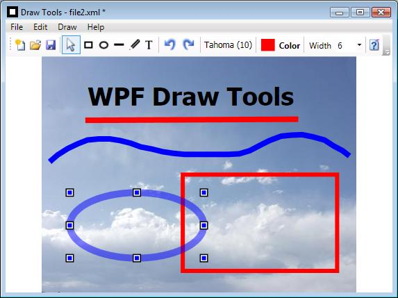 Drawing Lines Wpf : Wpf drawtools codeproject