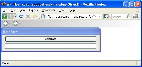 Embedding Windows Forms Applications in a WebBrowser using XBAP