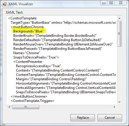 Modifying the XAML
