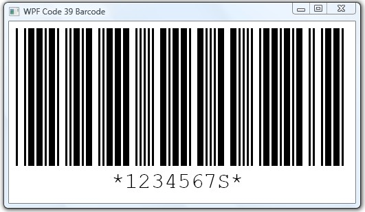 bar code. only the Code 39 arcode