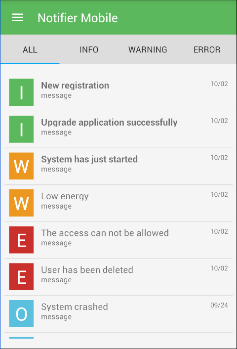 Main User Interface