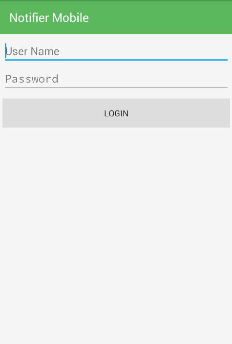 Login into Notifier Mobile App