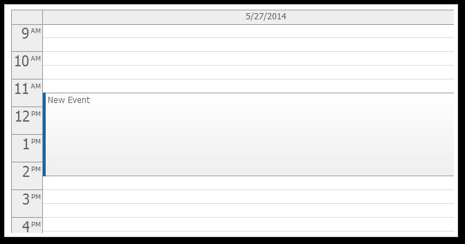 AJAX Daily Event Calendar for ASP.NET MVC
